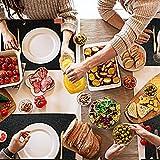 BALFER Tischset abwaschbar aus Filz 18er Set in Anthrazit - 6 Tischuntersetzer Platzset (44x32 cm) + 6 Glas Untersetzer + 6 Bestecksäcken - Hergestellt aus Filz - Platzdeckchen abwischbar - 4