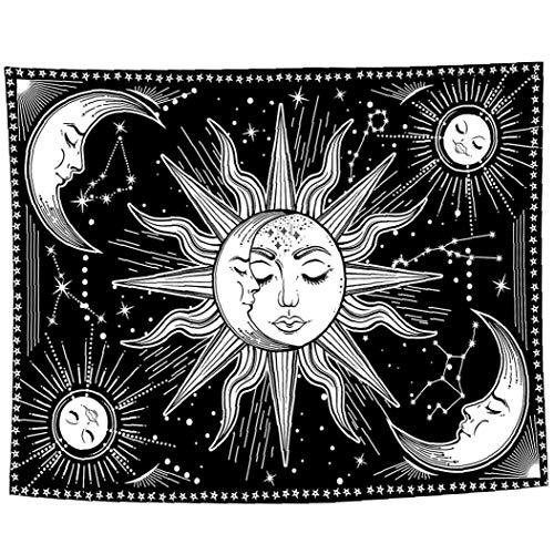 KHHGTYFYTFTY Fondo de la tapicería de Tela tapicería de la Pared Luna Psychedelic Mystic para el Dormitorio