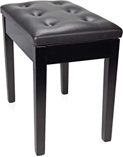 $59 » RockJam Padded Wooden Piano Bench Stool with Storage (RJKBB500)