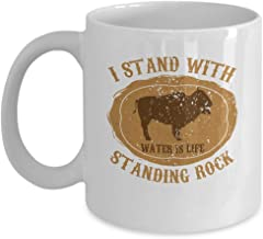 N/A Native American Coffee Mug - I Stand with Standing Rock- Nature Lover Gift - 11 oz Ceramic Cup