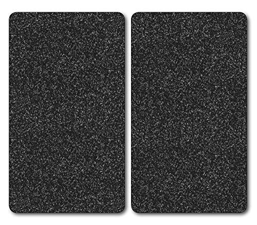 Kesper 36522 Planche à découper en verre multifonction Lot de 2 52 x 30 x 0,9 cm