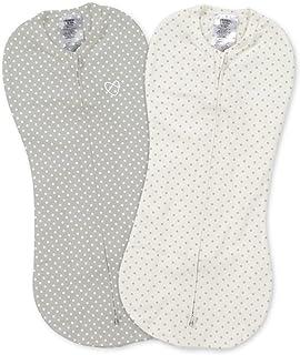 SwaddleMe Pod, grå/vit punkt, 2 stycken (för små spädbarn – upp till 2 månader)