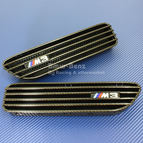 B2 Front Grill with Side Fender Grill Vents FOR BMW 2001-2006 E46 M3