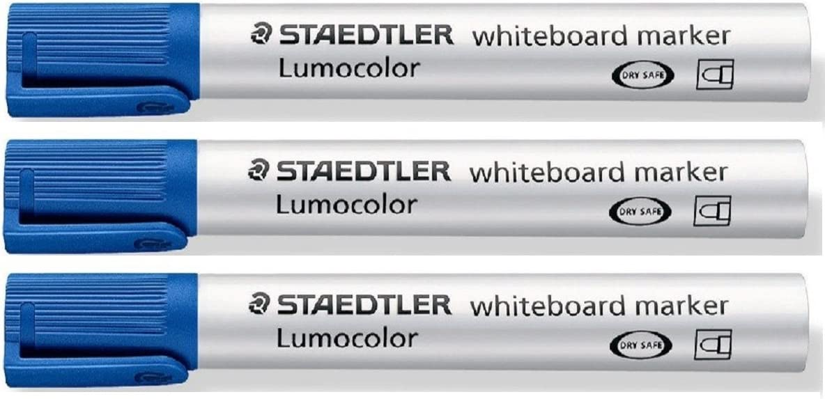 Choice Staedtler Lumocolor Blue Bullet Tip Board Whiteboard 3 2021new shipping free Markers
