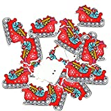 joyMerit Adorno de Costura de Botón de Madera de Trineo de Trineo de Navidad de 50 Piezas para Manualidades de Bricolaje