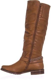 [Xoxo] Womens Mauricia Wide Calf Closed Toe Fashion Boots, Tan, Size 5.5