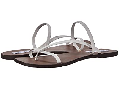 Steve Madden Janessa Flat Sandal (White Leather) Women