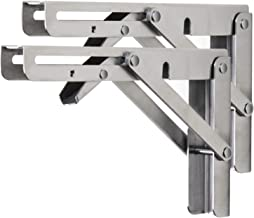 Stevige opvouwbare plankbeugels Heavy-duty roestvrijstalen inklapbare beugel 2 stuks metalen DIY driehoekige beugels plank...