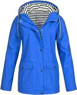 Women Outdoor Jacket Rain Jacket Hoodie Waterproof Hooded Long Rain Coat Windproof