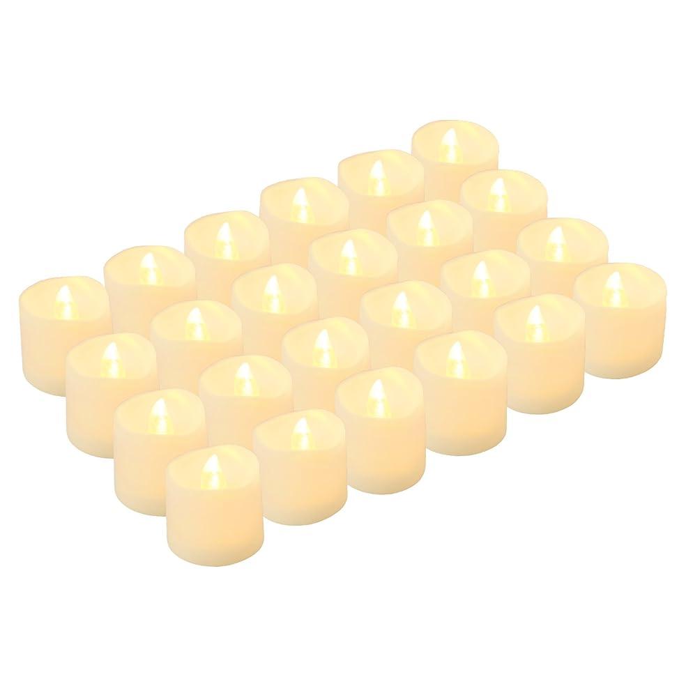 詩きらめく抵抗するKohree LED キャンドルライト 無香料 揺らぐ炎 ティーライトゆらゆら揺れる 装飾用 本物にそっくり 暖白 24個セット