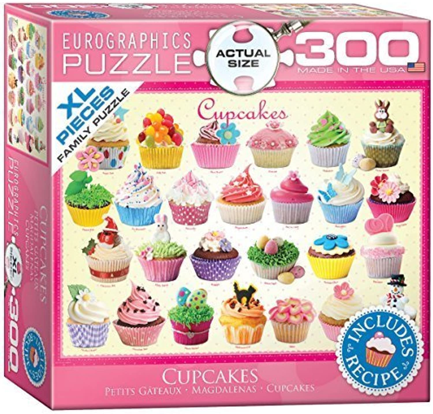 Eurographics Cupcakes MO Puzzle (XL, 300 Pieces) by Eurographics