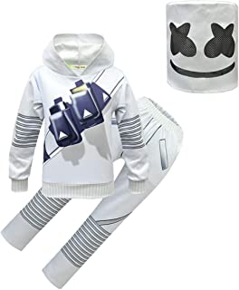 Sumeca DJ Party Cosplay Costume for Kids Game Hoodie Pant Sets