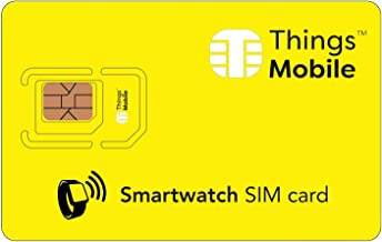 SIM Card for SMARTWATCH - Things Mobile - with Global Coverage and Multi-Operator GSM/2G/3G/4G LTE Network, No Fixed Costs, No Expiration Date and Competitive Rates, No Credit Included