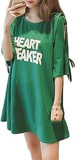 ZhongJue(ジュージェン) レディース 半袖 tシャツ ゆったり オフショルダー かわいい おしゃれ tシャツ 韓国ファッション