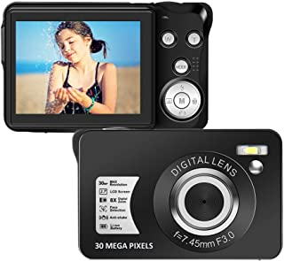 デジタルカメラ デジカメ フルHD 1080P 30MP 8倍デジタルズーム 2.7インチ液晶ディスプレイ SDカード128GB対応 コンパクト 日本語説明書 初心者/学生/家族最適 誕生日 旅行