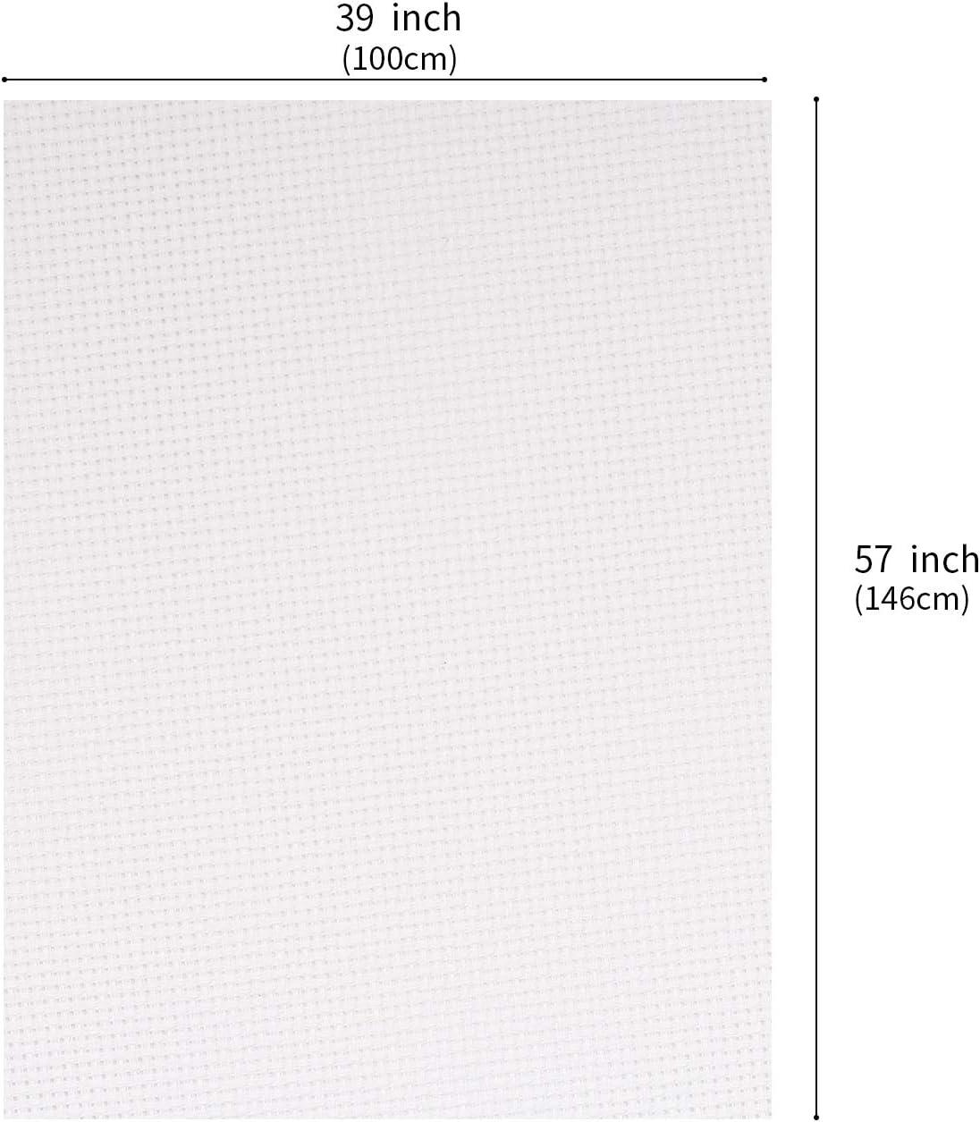 Kunsthandwerk cremewei/ß 14-f/ädig DIY Handarbeit Bonroy Aida-Stoff Kreuzstich f/ür Stickerei Nedleworks gro/ße Gr/ö/ße