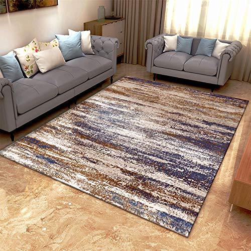 Nordische Moderne Ölgemälde Einfache Couchtisch Sofa Kissen Geometrische Linien rutschfeste Dicke Teppich Schlafzimmer Wohnzimmer Hotel Bed & Breakfast Party Teppich