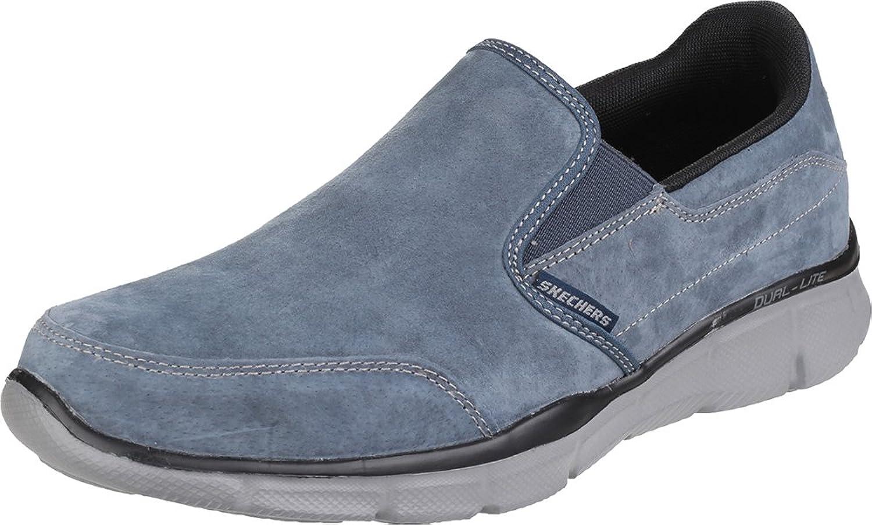 Skechers Equaliser Mind Game Memory Foam Slip On shoes Suede Upper Mens Footwear