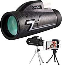 Monocular Telescope, 16x50 High Powered Monocular Scope with Phone Adapter and Tripod, Waterproof Compact Monocular with BAK4 Multi-Coated Zoom Lens, Low Night Vision for Hunting Bird Watching Camping