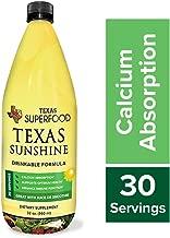 Texas SuperFood - Texas Sunshine Drinkable Formula, 5000 IU Vitamin D3, Liquid Multivitamin for Men and Women, Immune Function & Calcium Absorption, Liquid Vitamins and Minerals, 32 oz, 30 Servings