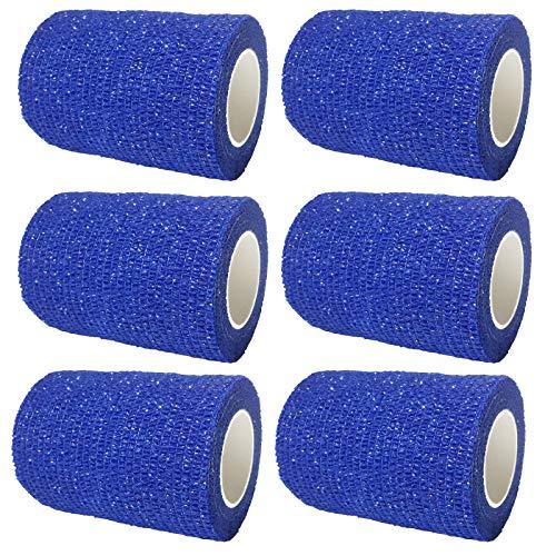 Steroplast Coban kohäsive 6x 7.5cm, selbstklebend, für Knie, Sport-, Leder-Armband, Blau