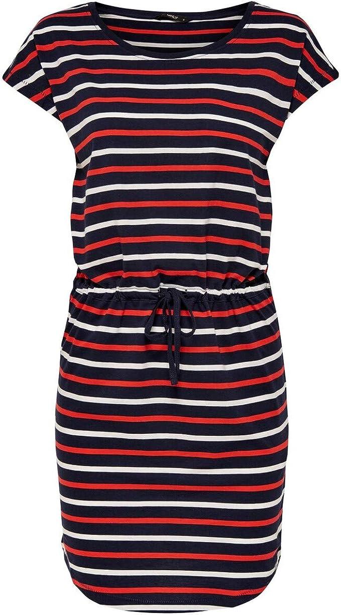 Only Damen Onlmay S S Dress Noos Kleid Amazon De Bekleidung