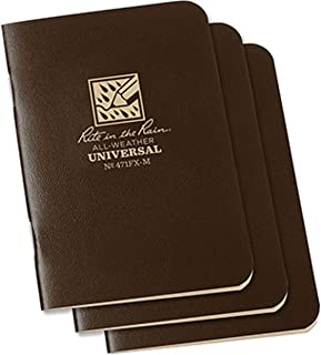 Rite In The Rain Notebook 3 1/4 X 4 5/8 3-Pack (Brown - OS)