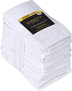 ZANOTY Kitchen Highly Absorbent 100% Pure Cotton Kitchen Flour Sack Towels, 28 x 28 Inches, Value Pack of 6, Kitchen Towel...