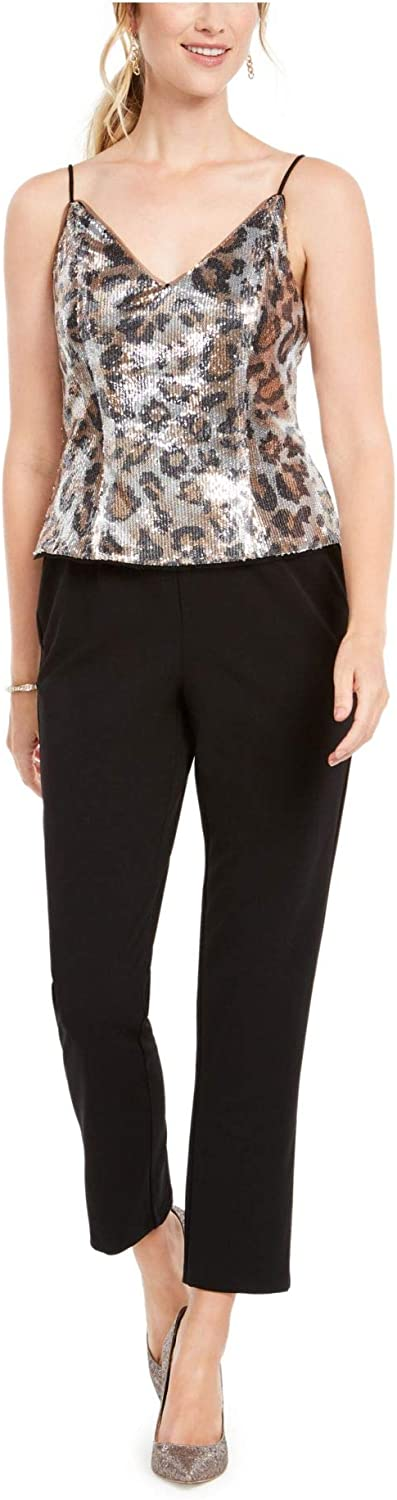 Adrianna Papell Women's Louisville-Jefferson Translated County Mall Sequin Jumpsuit