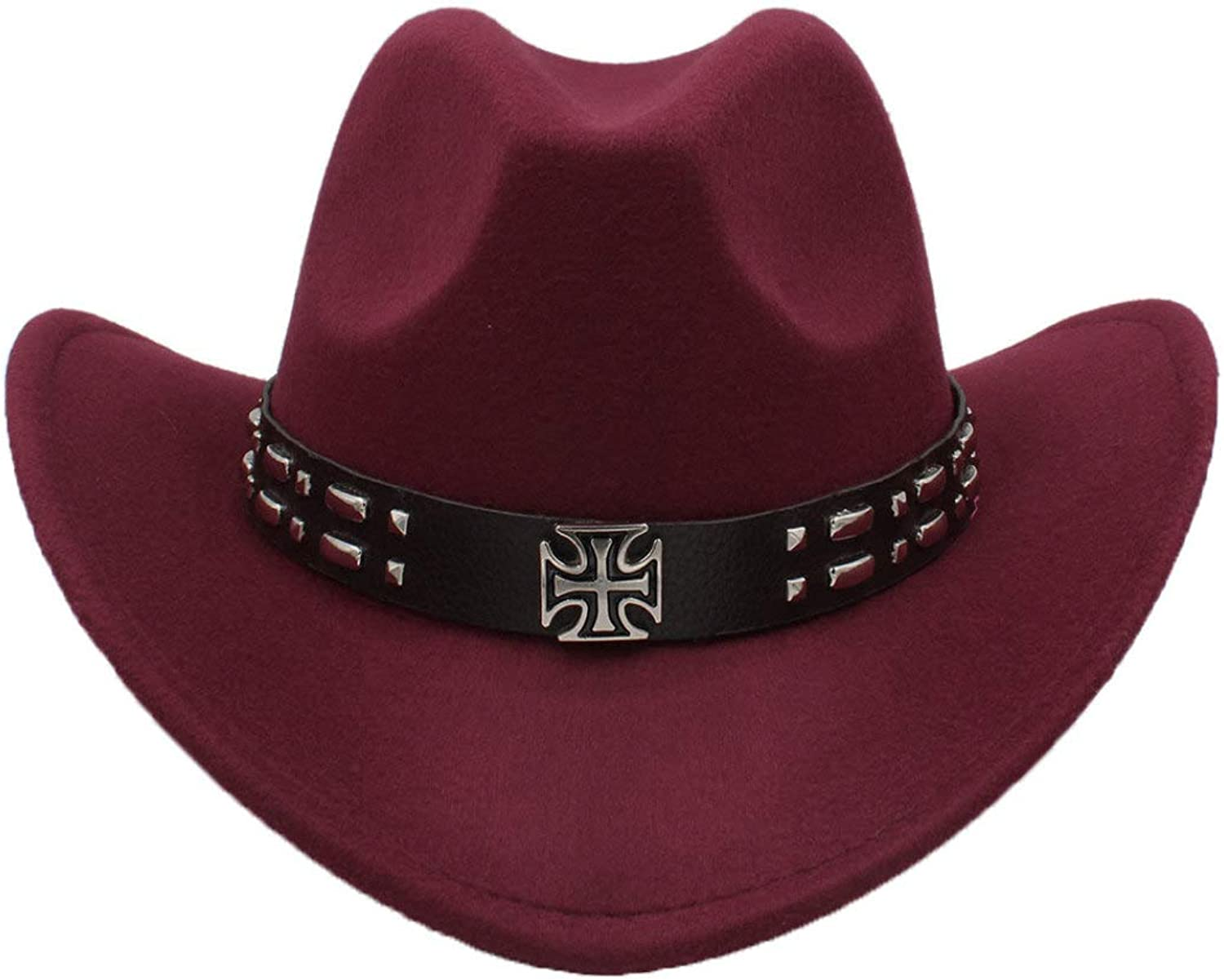 - ASO-SLING ASO-SLING ASO-SLING Unisex Faux Felt Western Cowboy Hat Wool Outback Jazz Hat with Retro Steampunk Belt 028e5f
