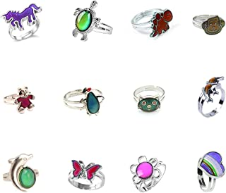 Mixed Mood Rings Classic Temperature Change Color Mood Ring Lovers Adjustable Size(10pcs/12pcs/30pcs)