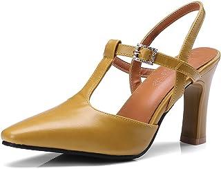 00cc14c35a5713 OALEEN Escarpins Salomé Femme Talon Haut Bride Chaussures Sandales Eté Mary  Janes Soirée