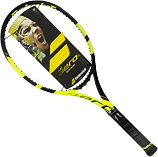 Babolat Pure Aero VS Tour 16x20 Yellow/Black Tennis Racquet Strung with Custom Racket String Colors (Rafael Nadal's Racket)
