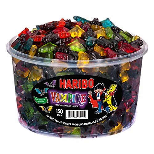 Haribo Gummi Candy - VAMPIRES (Tub 150 pieces)