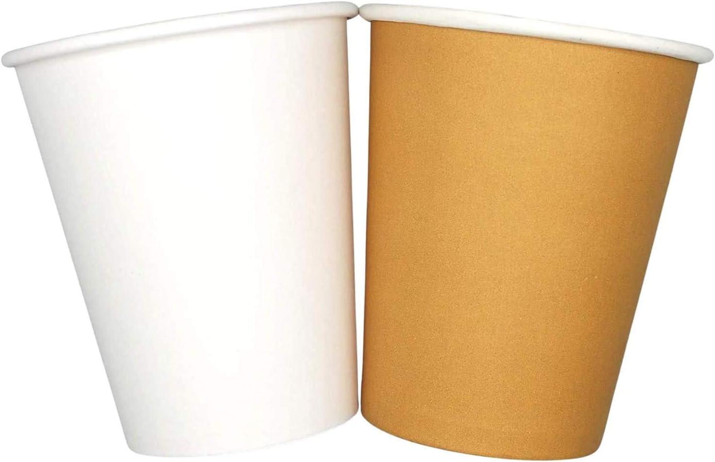 Vasos de papel reciclables blancos desechables, de alta calidad, grandes para agua, cerveza, café, expreso, leche, cóctel, té, bebidas, chocolate caliente, coca, vasos y tazas Eco-Friendly