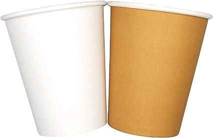 Cocobanana Bicchieri di Carta da 240ml, Monouso, Biodegradabili - Cartone Adatto a Uso Alimentare, Inodore e Insapore - per Bevande Calde & Fredde, caffè, tè, Aperitivi, Cocktail - Avana, [1000]: Amazon.it: Casa e cucina