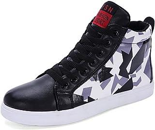 メンズシューズ スニーカー 男性 ファッション 靴 カジュアル 迷彩 個性 スポーツ シューズ 通気性 (Color : ブラック, サイズ : 25.5 CM)