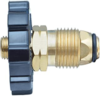 Onlyfire 5041 Soft Nose POL Propane Gas Fitting Adapter with Excess Flow X 1/4 Inch Male Pipe Thread, Brass
