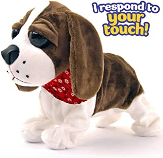 Liberty Imports Interactive Animated Walking Pet Electronic Dog Plush Sound Control Toy Puppy - Barks, Sits, Walks (Dog)