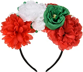 DreamLily Frida Kahlo Mexican Rose Flower Crown Headband Halloween Party Costume Headpiece NC26