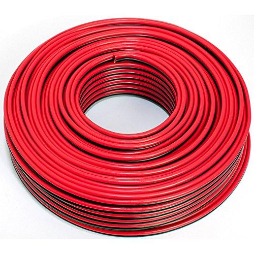 Cavo per altoparlante, 2 x 2,50 mm2, 50 m, colore: rosso/nero