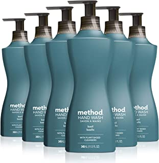 Method Gel liquid hand soap, Basil, 6 Count