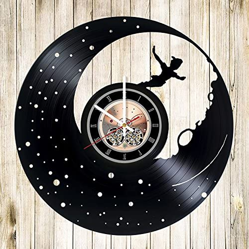Peter Pan Wonderland Vinyl Record Wall Clock Get Unique Bedroom Wall Decor Gift Ideas for Babies product image
