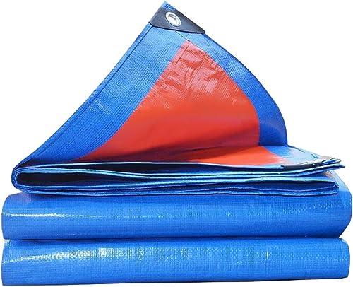 Bache imperméable avec Oeillets métalliques et Bords renforcés pour Toit, Camping, extérieur, Patio, réversible, Bleu, 160g   m2