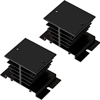 Yootop 2Pcs Black Aluminum Heatsink Dissipation Heat Sink Semiconductor for SSR Type Solid State Relay