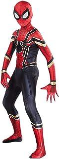 AM ANNA The Spider-Verse Kids Bodysuit Spiderman Superhero Costumes Halloween Cosplay Costumes (M)