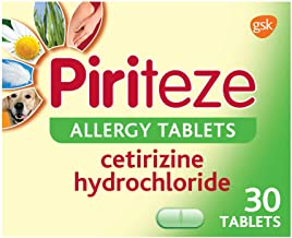 Piriteze Allergy Tablets, Antihistamine Allergy Relief