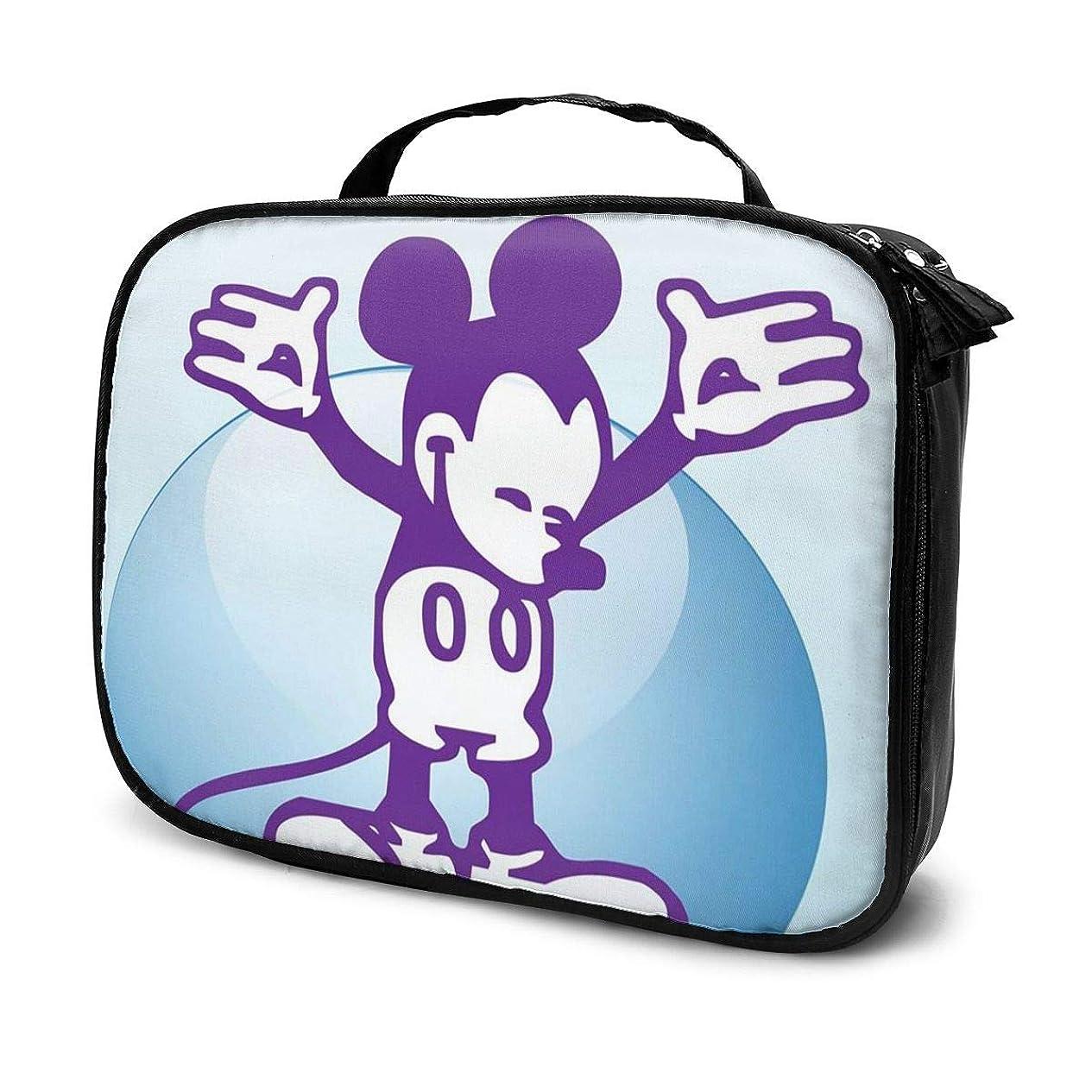 スタンド定数人工的なDaituヴィンテージミッキー 化粧品袋の女性旅行バッグ収納大容量防水アクセサリー旅行