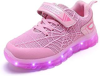 Unisex Bambini LED Scarpe Sportive LED Light-up Scarpe 7 Colori USB Carica Lampeggiante Luminosi Running Sneakers Traspira...