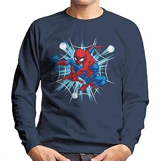 Marvel Christmas Spider Man Classic Pose Men's Sweatshirt